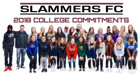 Slammers FC College Commitments 2018