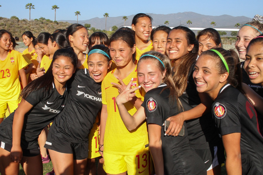 small group of Chinese national team and slammers fc g02
